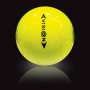 Vision UV Yellow golf ball - back