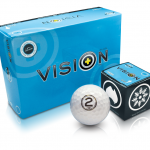 Box Vision Arctic White golf ball