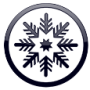 snowflake icon arctic white