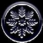 snowflake icon arctic white
